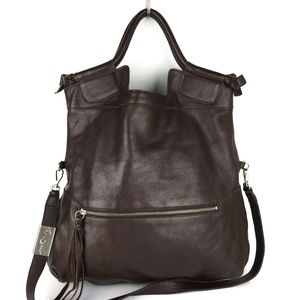 Foley & Corinna Brown City Leather Tote